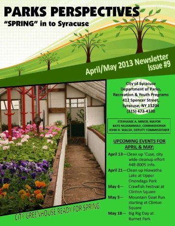 April-May 2013 Issue #9 - City of Syracuse