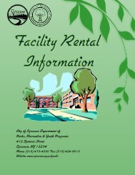 Facility Permit Brochure (PDF) - City of Syracuse