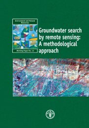 Groundwater search by remote sensing: A methodological ... - FAO.org
