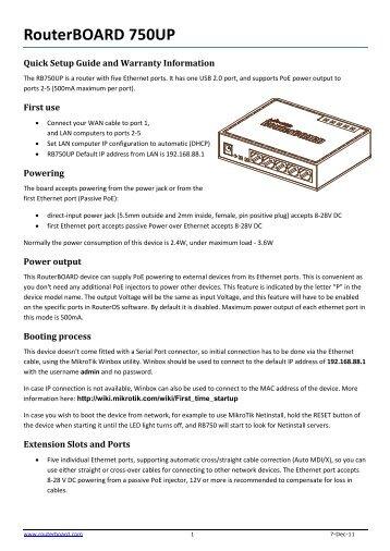 RouterBOARD 750UP - Mikrotik Hrvatska
