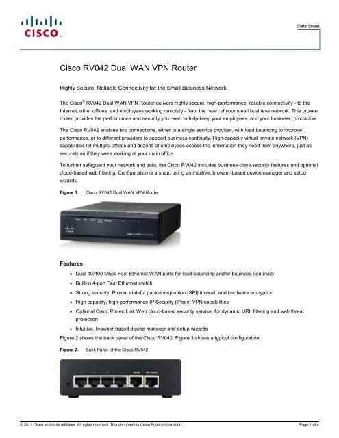 cisco rv042 dual wan vpn router - Cisco Rv042 Dual Wan Vpn Router Manual