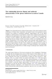 The relationship between climate and outbreak characteristics of the ...
