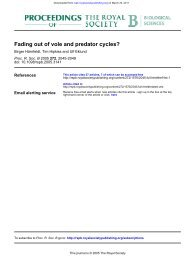 Fading out of vole and predator cycles? - Terrestrial Systems Ecology