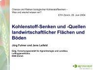 Kohlenstoff-Senken und -Quellen landwirtschaftlicher ... - ETH Zürich