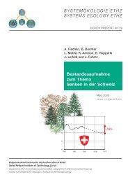 Bestandesaufnahme zum Thema Senken in der Schweiz