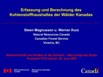 Die Wälder Kanadas - ETH Zürich