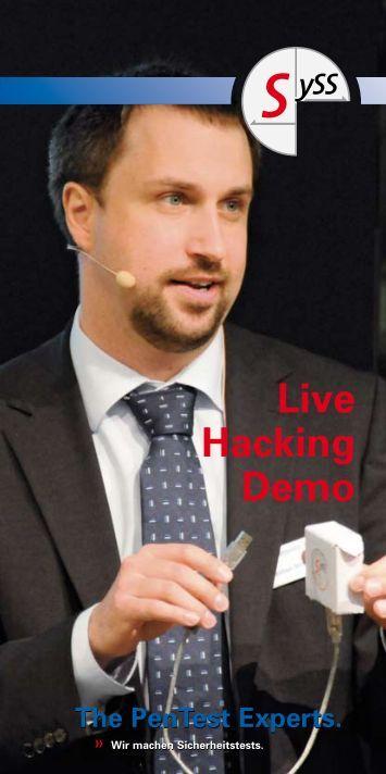 Live Hacking-Auftritt - SySS GmbH