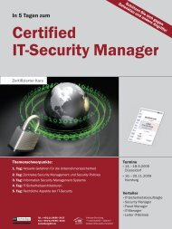 Certified IT-Security Manager - SySS GmbH