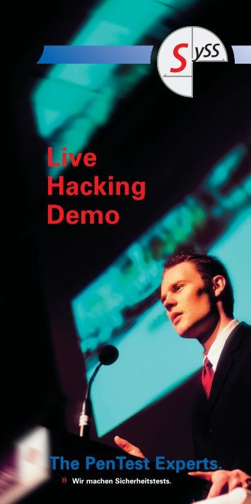 Live Hacking Demo - SySS GmbH