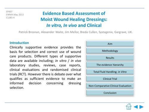 Evidence Based Assessment of Moist Wound Healing