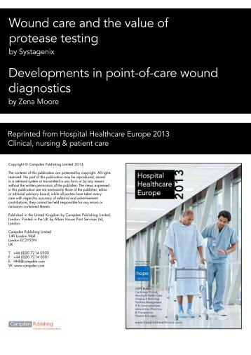 Developments in point-of-care wound diagnostics - Systagenix