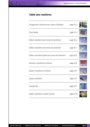 Liste de prix applications industrielles 2013 - Systec Therm AG