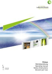 Primus Betriebsanleitung Operating manual ... - Systec Therm AG