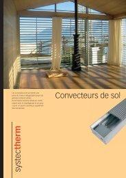 Prospectus convecteurs de sol - Systec Therm AG