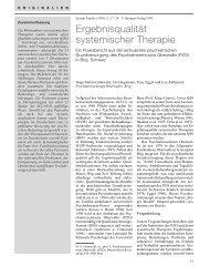 Ergebnisqualität systemischer Therapie. Ein ... - Systemagazin