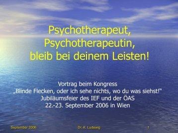PsychotherapeutIn, bleib bei Deinem Leisten - Systemagazin