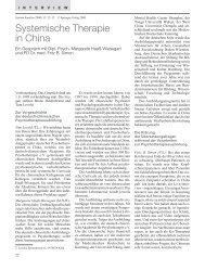 Systemische Therapie in China. Ein Gespräch mit ... - Systemagazin