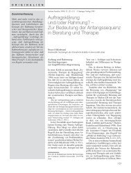 Zur Bedeutung der Anfangssequenz in Beratung ... - ResearchGate
