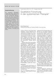 Qualitative Forschung in der systemischen Therapie* - Systemagazin