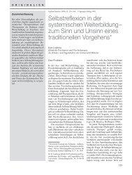 Selbstreflexion in der systemischen Weiterbildung ... - Systemagazin