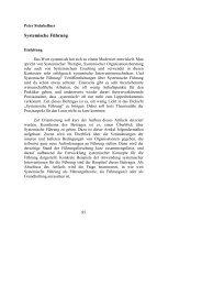 Systemische Führung - Steinkellner - Beratung, Training, Coaching