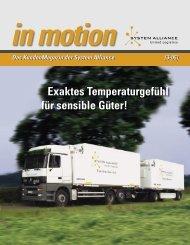 Exaktes Temperaturgefühl für sensible Güter! - System Alliance