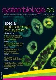 systembiologie.de - Das Magazin - Ausgabe 05