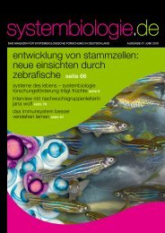 systembiologie.de - Das Magazin