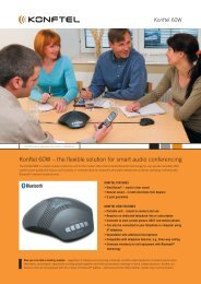 Konftel 60W – the flexible solution for smart audio conferencing