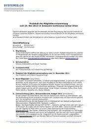 Protokoll der Mitgliederversammlung vom 25. Mai ... - systemis.ch