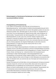 Diskussionspapier zur Entwicklung der Psychotherapie und zur ...