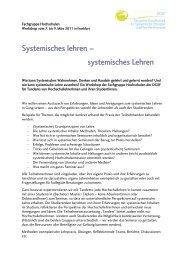 Systemisches lehren – systemisches Lehren - DGSF