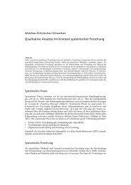 Qualitative Ansätze im Kontext systemischer Forschung (PDF)