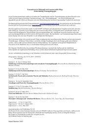 Traumabewusste Pädagogik und traumasensible Pflege Curriculum