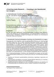 Call for Papers - European Coaching Association e.V.