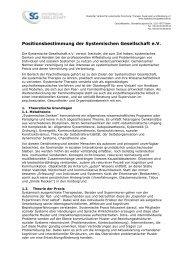 Positionsbestimmung - Systemische Gesellschaft