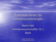 Martin Hell: Qualitätskriterien für Familienaufstellungen