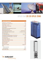 OPzS Cell 2V 20 OPzS 2500 - Systems Sunlight S.A.