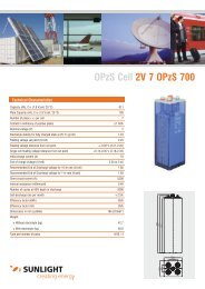 OPzS Cell 2V 7 OPzS 700 - Systems Sunlight S.A.