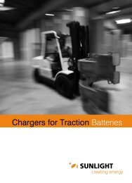 Chargers for Traction Batteries - Systems Sunlight S.A.