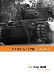 MILITARY SUNGEL battery MILITARY SUNGEL battery - Systems ...