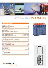 OPzS Monoblock 12V 3 OPzS 150 - Systems Sunlight S.A.