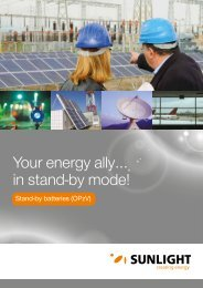 Your energy ally… in stand-by mode! - Systems Sunlight S.A.