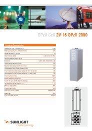 OPzV Cell 2V 16 OPzV 2000