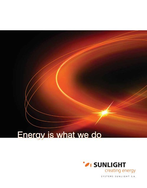 Energy is what we do - Systems Sunlight S.A.