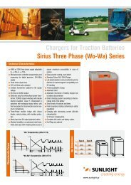 Chargers for Traction Batteries Sirius Three Phase (Wo-Wa) Series