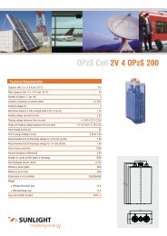 OPzS Cell 2V 4 OPzS 200 - Systems Sunlight S.A.