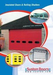 Insulated Doors & Rolling Shutters Brochure - Syston Doors