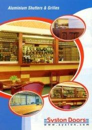 Aluminium Shutters & Grilles Brochure - Syston Doors