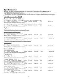 Kurse vorlesungsfreie Zeit SS 2013 pdf - Sprachenzentrum